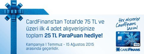 TOTAL VE FİNANSBANK'TAN 25 TL PARAPUAN KAZANDIRAN KAMPANYA